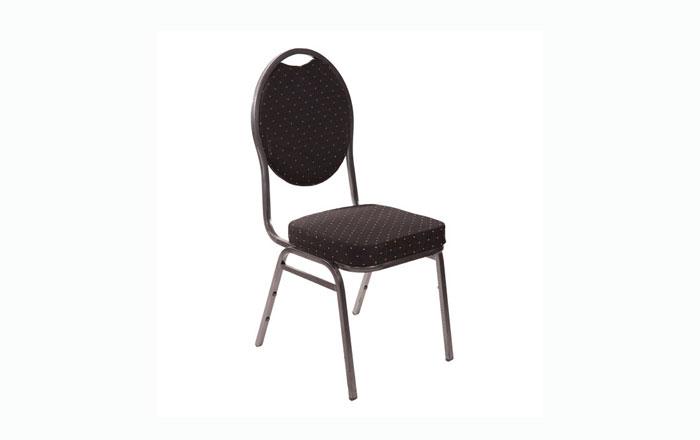 Bankett Stuhl schwarz gepolstert