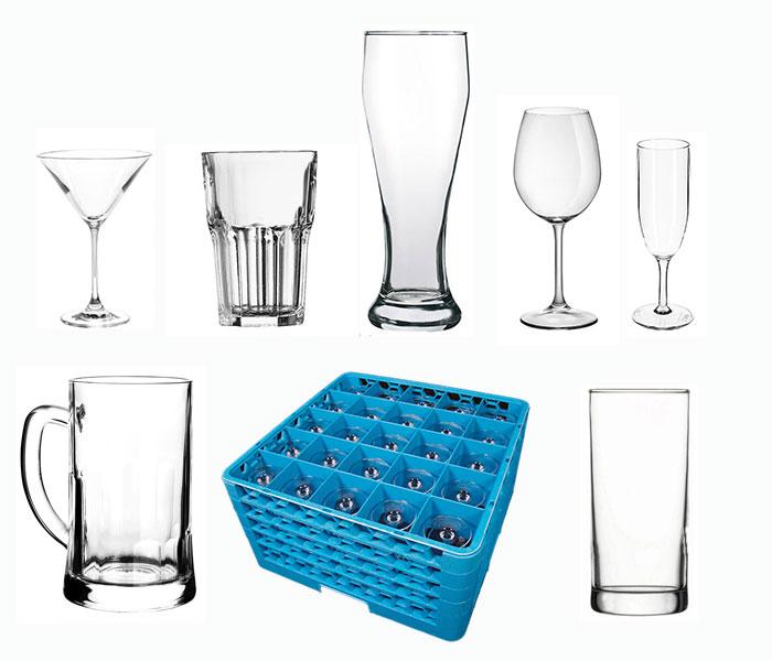 Gläser (Cocktail, Bier, Wein, Prosecco, uvm.)